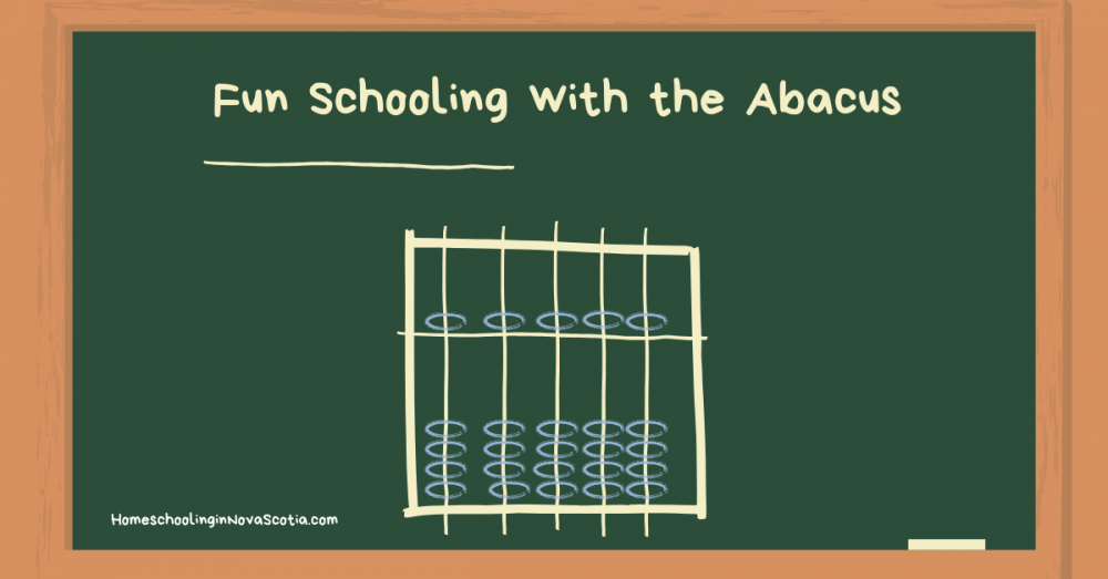 fun schooling with the abacus - blackboard with abacus drawn on it