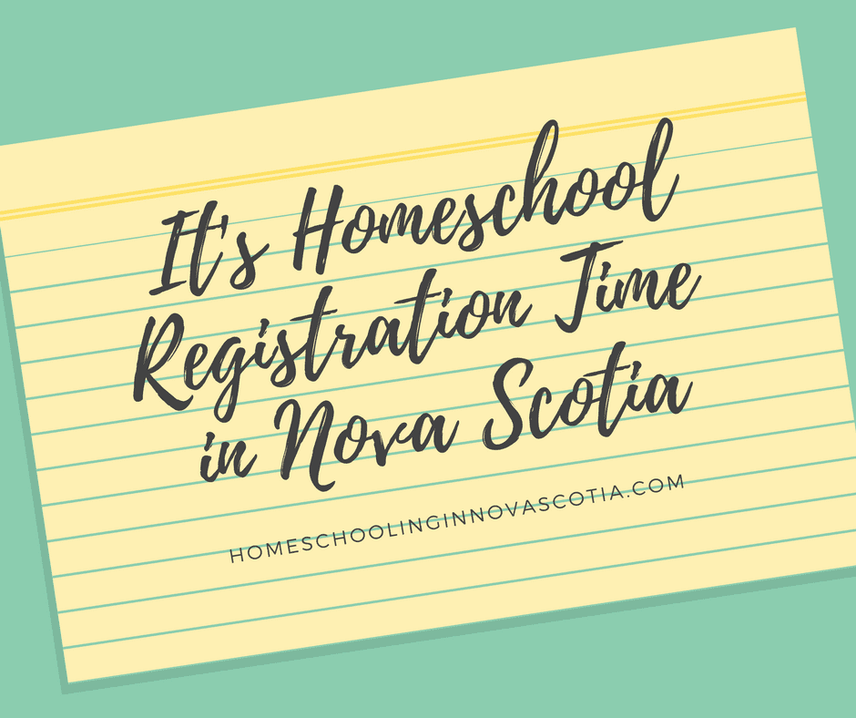 it's homeschool registration time