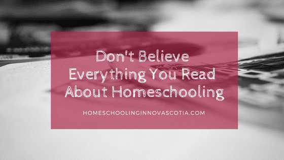 don't believe everything you read about homeschooling