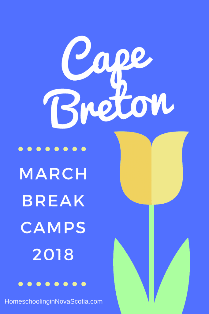 Cape Breton March Break Camps 2018 - tulip