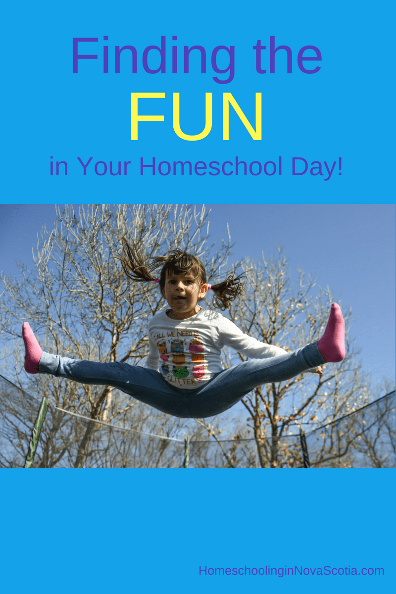 finding the fun in your homeschool day - child jumping
