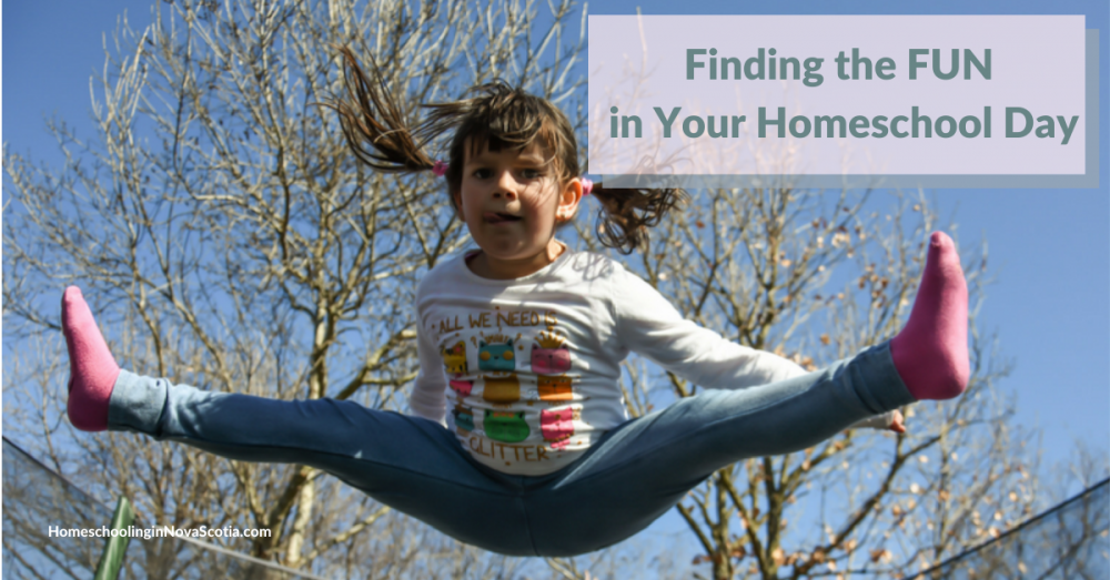 finding the fun in your homeschool - girl jumping on trampoline