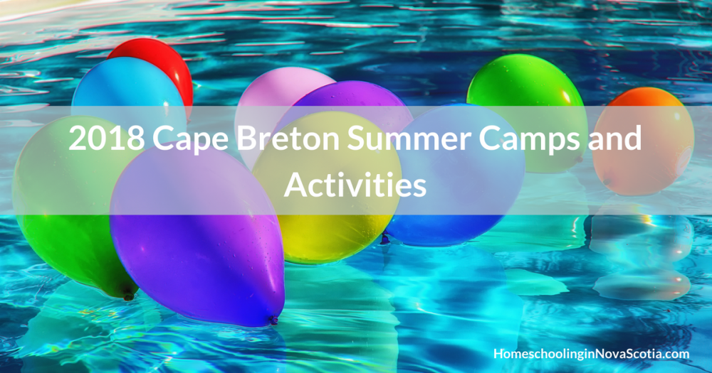 2018 cape breton summer camps