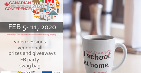 2020 canadian homeschool conference - mug, I conference at home